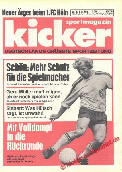 Kicker Sportmagazin Nr. 5, 13.1.1977 bis 19.1.1977