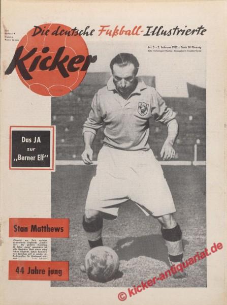 Kicker Nr. 5, 2.2.1959 bis 8.2.1959