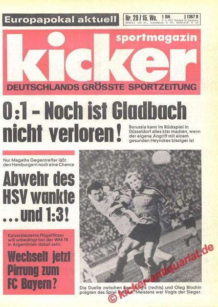 Kicker Sportmagazin Nr. 29, 7.4.1977 bis 13.4.1977