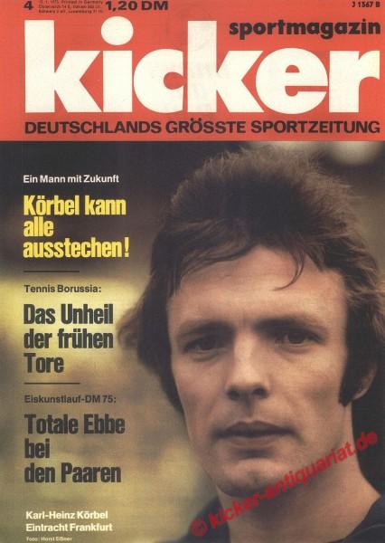 Kicker Sportmagazin Nr. 4, 13.1.1975 bis 19.1.1975