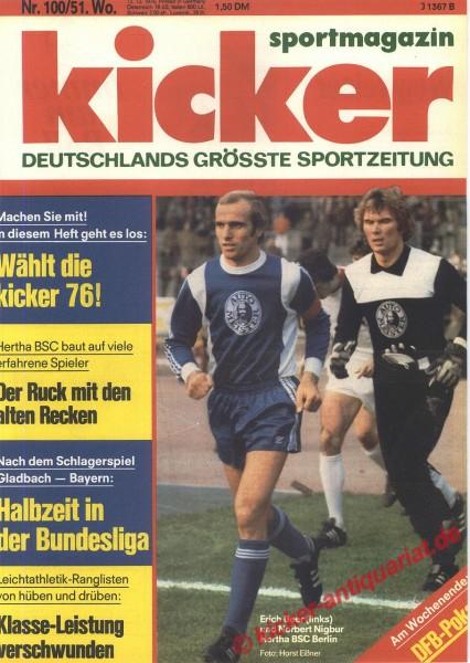 Kicker Sportmagazin Nr. 100, 13.12.1976 bis 19.12.1976