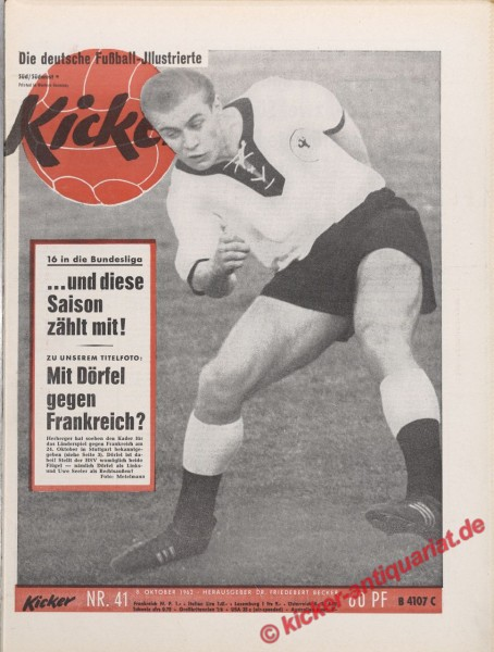 Kicker Nr. 41, 8.10.1962 bis 14.10.1962