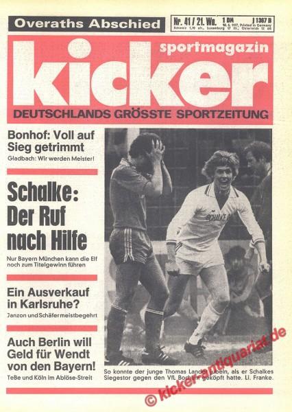 Kicker Sportmagazin Nr. 41, 18.5.1977 bis 24.5.1977