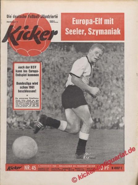 Kicker Nr. 45, 7.11.1960 bis 13.11.1960