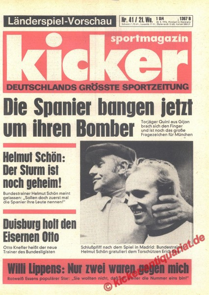 Kicker Sportmagazin Nr. 41, 20.5.1976 bis 26.5.1976