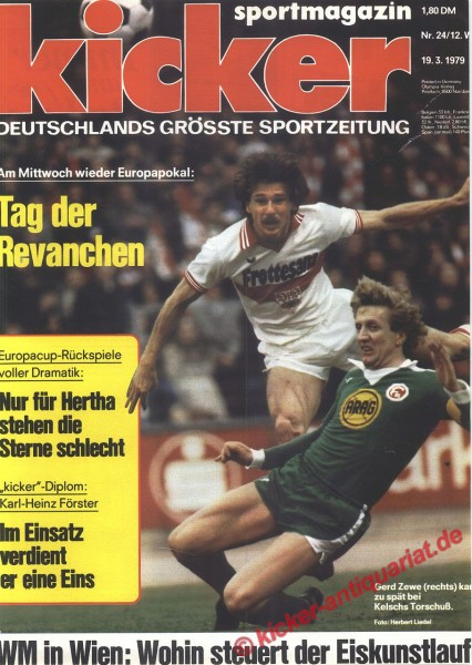 Kicker Sportmagazin Nr. 24, 19.3.1979 bis 25.3.1979