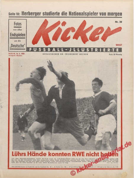 Kicker Nr. 20, 16.5.1955 bis 22.5.1955