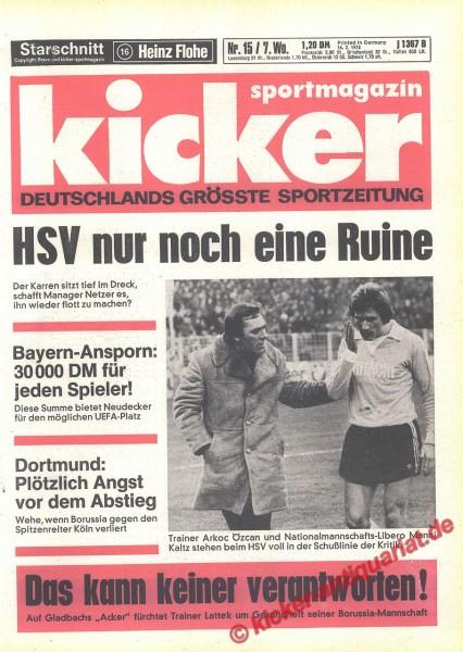 Kicker Sportmagazin Nr. 15, 16.2.1978 bis 22.2.1978