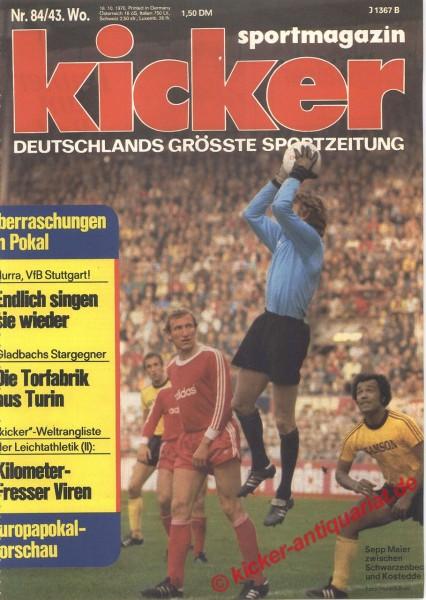 Kicker Sportmagazin Nr. 84, 18.10.1976 bis 24.10.1976