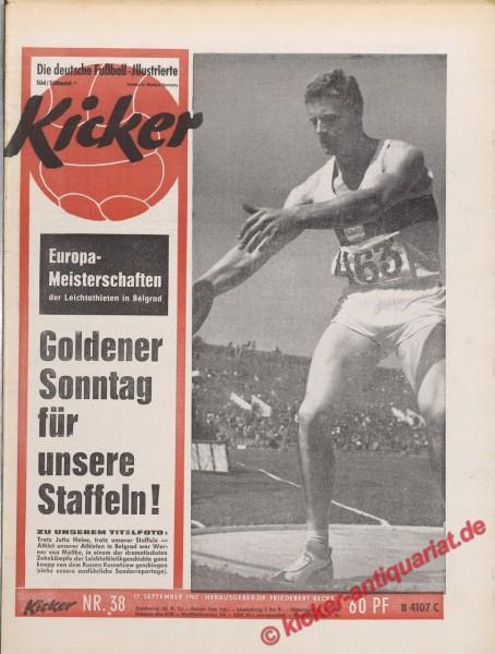 Kicker Nr. 38, 17.9.1962 bis 23.9.1962