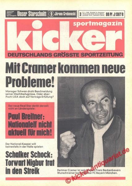Kicker Sportmagazin Nr. 3, 9.1.1975 bis 15.1.1975