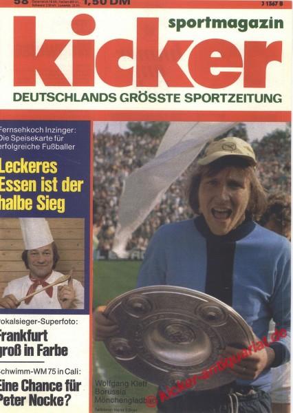 Kicker Sportmagazin Nr. 58, 21.7.1975 bis 27.7.1975