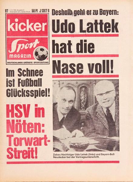 Kicker Sportmagazin Nr. 97, 4.12.1969 bis 10.12.1969