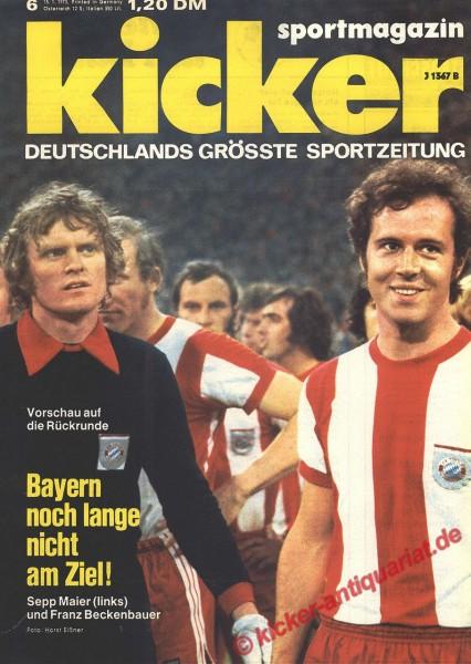 Kicker Sportmagazin Nr. 6, 15.1.1973 bis 21.1.1973