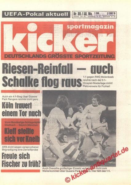 Kicker Sportmagazin Nr. 99, 9.12.1976 bis 15.12.1976