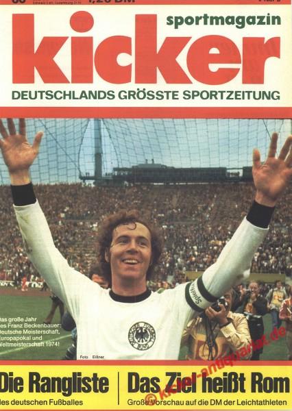 Kicker Sportmagazin Nr. 60, 22.7.1974 bis 28.7.1974