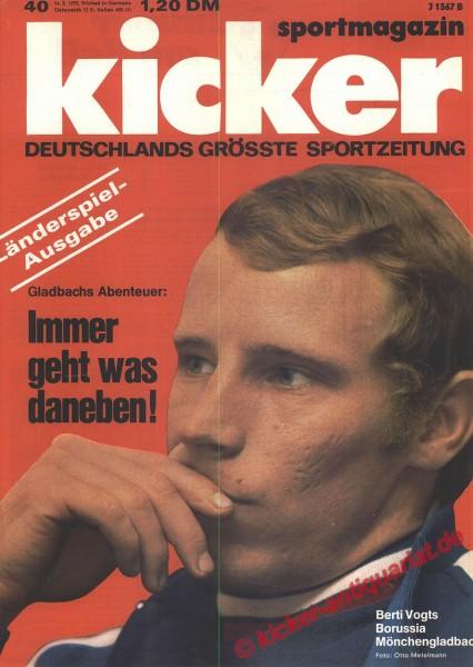 Kicker Sportmagazin Nr. 40, 14.5.1973 bis 20.5.1973