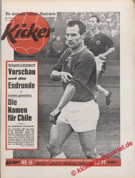 Kicker Nr. 16, 16.4.1962 bis 22.4.1962