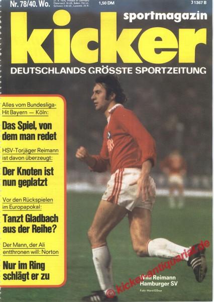 Kicker Sportmagazin Nr. 78, 27.9.1976 bis 3.10.1976