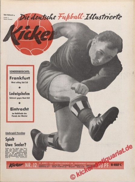 Kicker Nr. 12, 21.3.1960 bis 27.3.1960