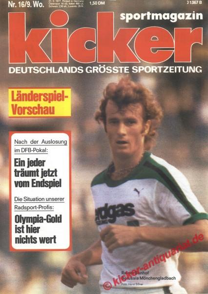 Kicker Sportmagazin Nr. 16, 21.2.1977 bis 27.2.1977