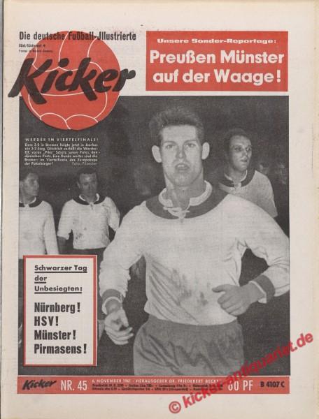 Kicker Nr. 45, 6.11.1961 bis 12.11.1961