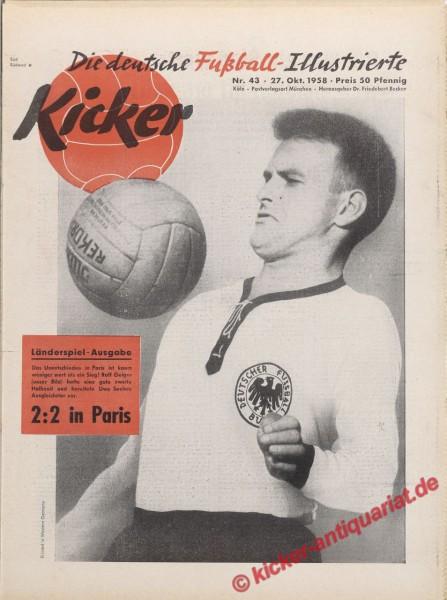 Kicker Nr. 43, 27.10.1958 bis 2.11.1958