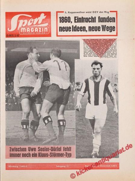 Sportmagazin Nr. 13B, 27.3.1963 bis 2.4.1963