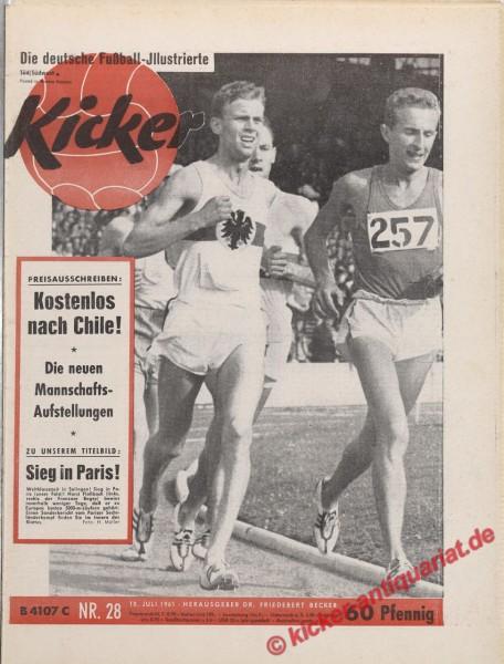 Kicker Nr. 28, 10.7.1961 bis 16.7.1961