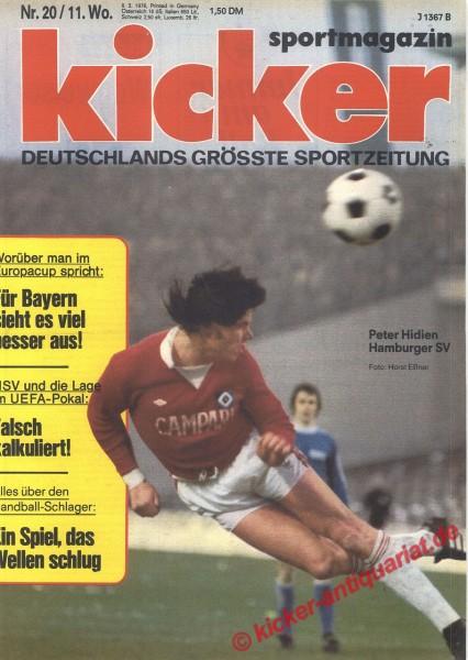 Kicker Sportmagazin Nr. 20, 8.3.1976 bis 14.3.1976