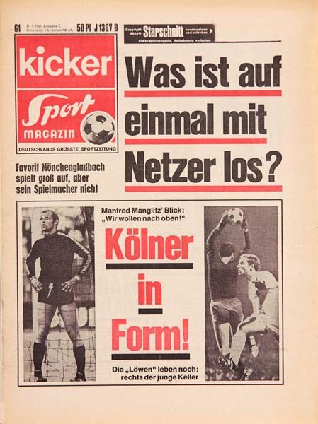 Kicker Sportmagazin Nr. 61, 31.7.1969 bis 6.8.1969