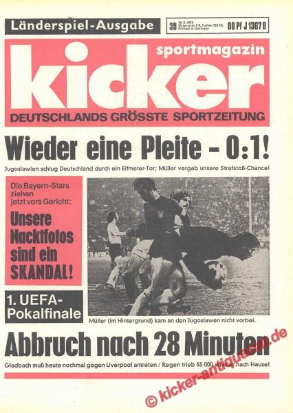 Kicker Sportmagazin Nr. 39, 10.5.1973 bis 16.5.1973