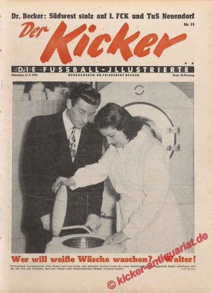 Kicker Nr. 11, 17.3.1952 bis 23.3.1952