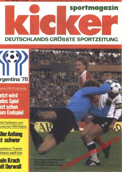 Kicker Sportmagazin Nr. 48, 12.6.1978 bis 18.6.1978