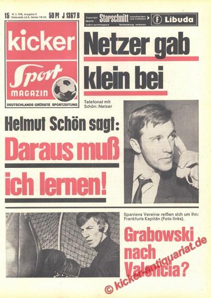 Kicker Sportmagazin Nr. 15, 19.2.1970 bis 25.2.1970