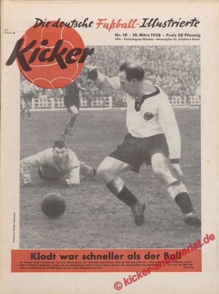 Kicker Nr. 10, 10.3.1958 bis 16.3.1958