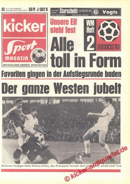 Kicker Sportmagazin Nr. 43, 28.5.1970 bis 3.6.1970