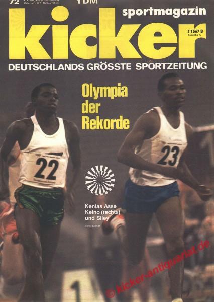 Kicker Sportmagazin Nr. 72, 4.9.1972 bis 10.9.1972