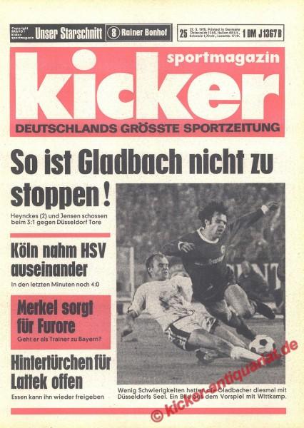 Kicker Sportmagazin Nr. 25, 27.3.1975 bis 2.4.1975