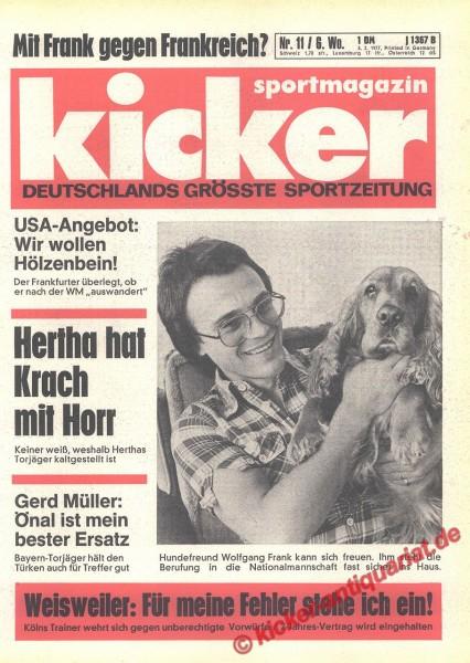 Kicker Sportmagazin Nr. 11, 3.2.1977 bis 9.2.1977