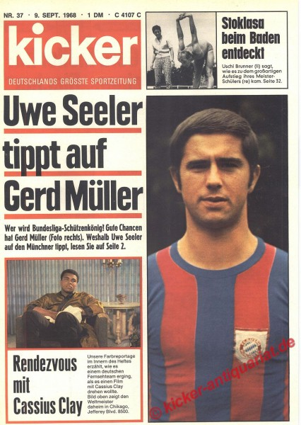 Kicker Sportmagazin Nr. 37, 9.9.1968 bis 15.9.1968