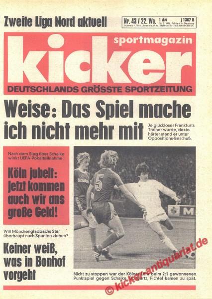 Kicker Sportmagazin Nr. 43, 28.5.1976 bis 3.6.1976