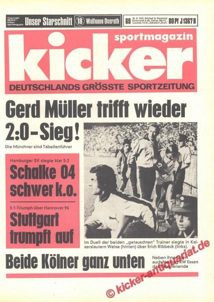 Kicker Sportmagazin Nr. 69, 23.8.1973 bis 29.8.1973