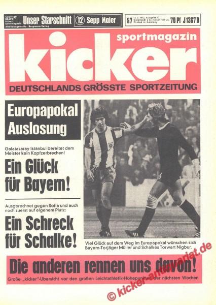Kicker Sportmagazin Nr. 57, 13.7.1972 bis 19.7.1972
