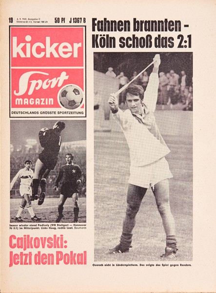 Kicker Sportmagazin Nr. 19, 6.3.1969 bis 12.3.1969