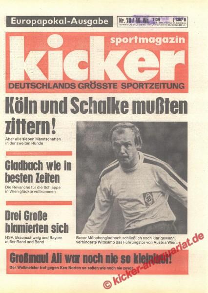 Kicker Sportmagazin Nr. 79, 30.9.1976 bis 6.10.1976