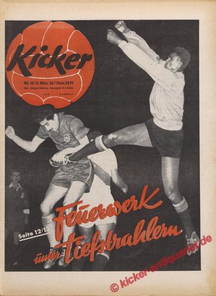 Kicker Nr. 10, 5.3.1956 bis 11.3.1956