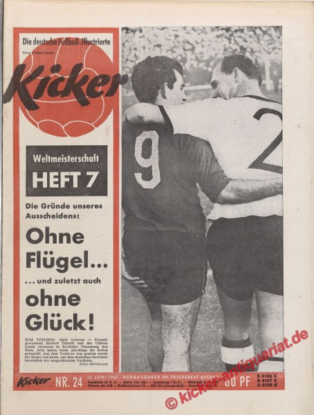 Kicker Nr. 24, 12.6.1962 bis 18.6.1962