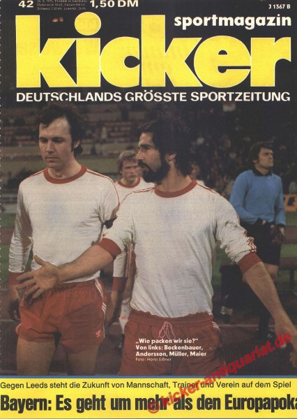 Kicker Sportmagazin Nr. 42, 26.5.1975 bis 1.6.1975