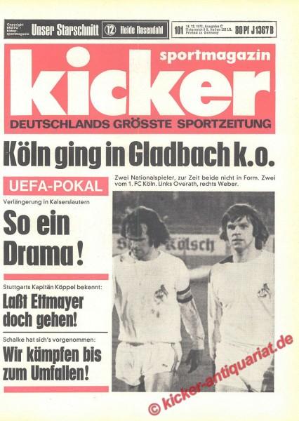 Kicker Sportmagazin Nr. 101, 14.12.1972 bis 20.12.1972